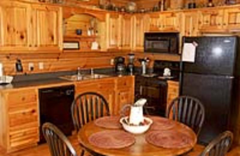 Vacation Rental Kitchen at Volunteer Cabin Rentals