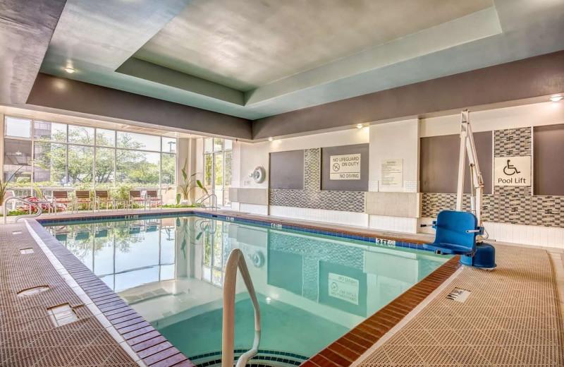 Indoor pool at Embassy Suites Memphis.