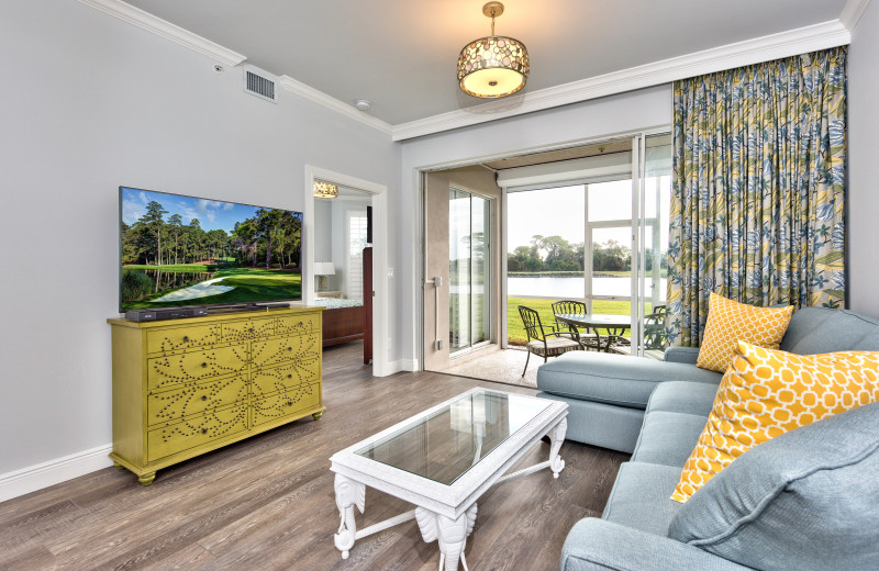 Rental living room at Naples Florida Vacation Homes.