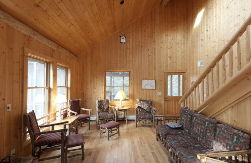 Cabin living room at YMCA Camp Du Nord.