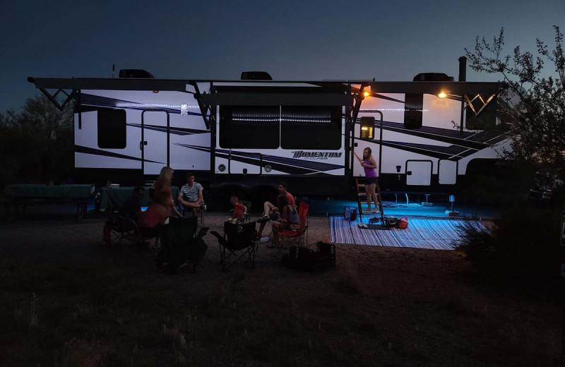 RV camping at River Bend's Resort & Walleye Inn.
