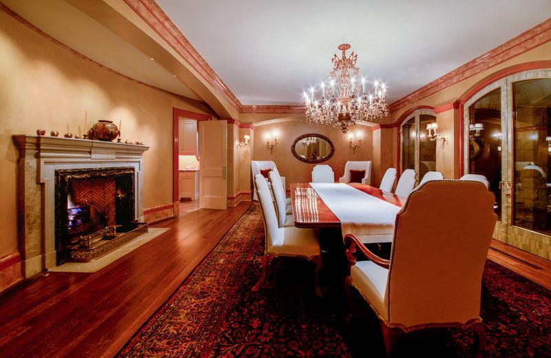 Rental dining room at Aspen Luxury Vacation Rentals.