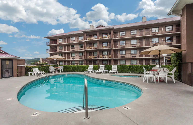 Outdoor pool at Baymont by Wyndham Pigeon Forge.