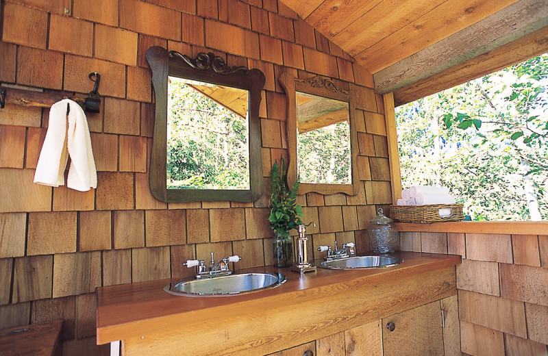 Bathroom at Clayoquot Wilderness Resort.