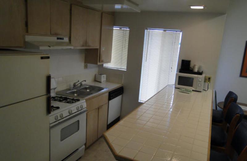 Guest kitchen at Sea Sprite Ocean Front Motel.