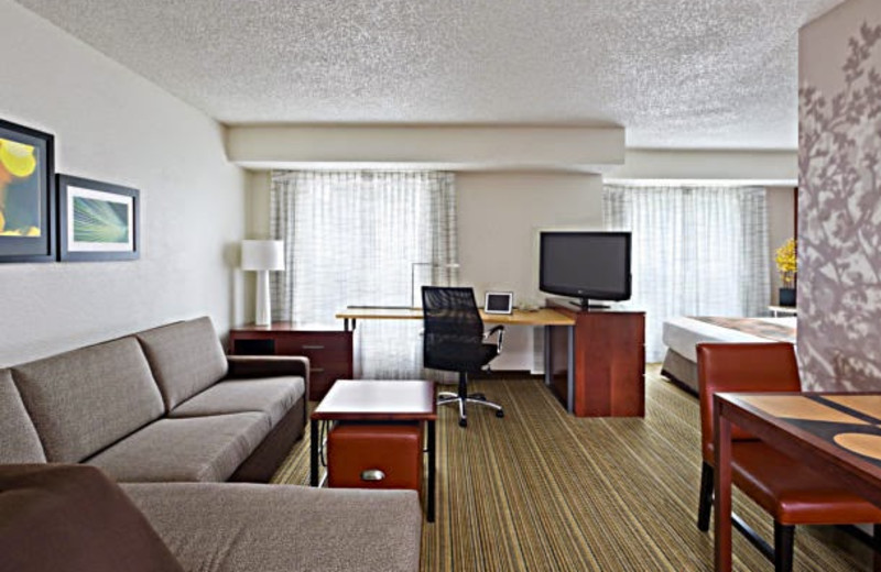 Guest room at Residence Inn Sacramento Rancho Cordova.