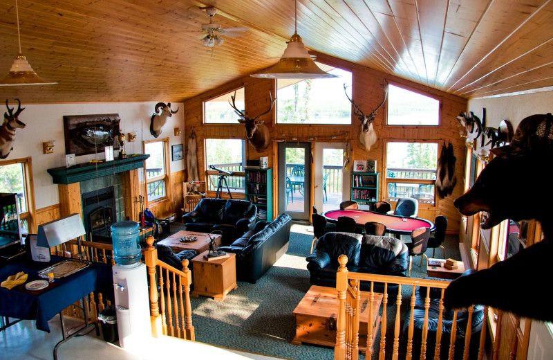 Interior at Selwyn Lake Lodge.