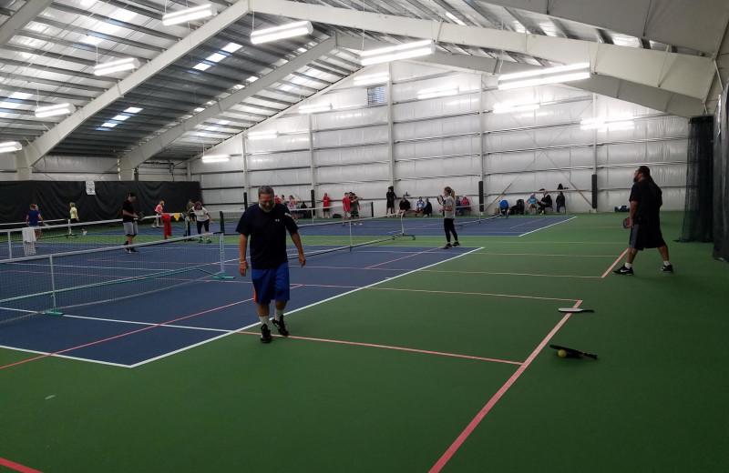 Tennis court at Lighthouse Oceanfront Resort.