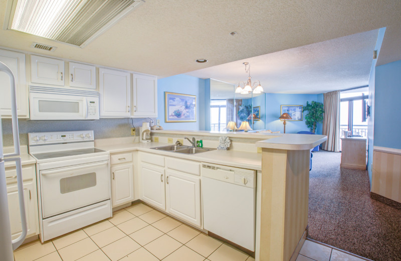 Guest kitchen at Sands Resorts.