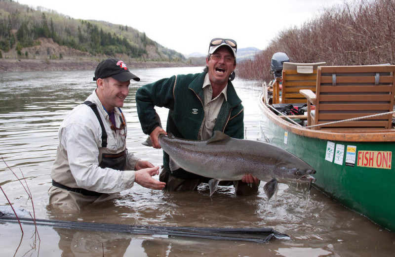 Fishing at Pourvoirie Motel Restigouche Outfitters.