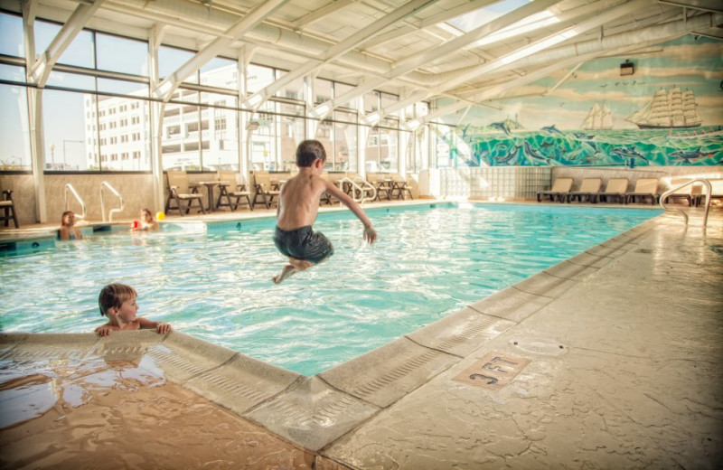 Indoor pool at The Oceanfront Inn.
