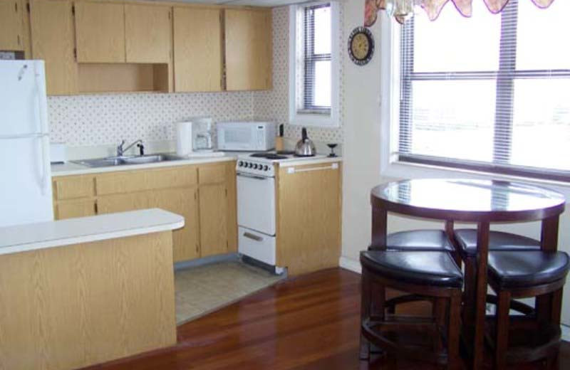 Vacation rental kitchen at Gulf Winds Resort Condominiums.