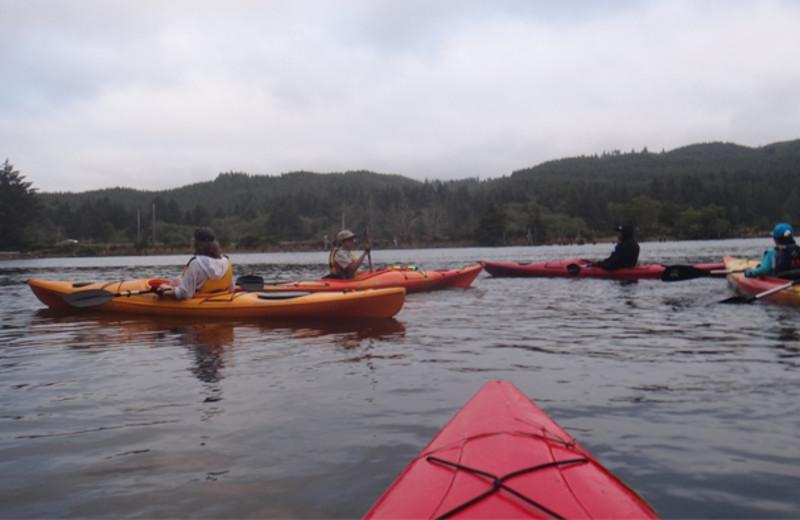 Kayaking at Canyon Lake Resort.