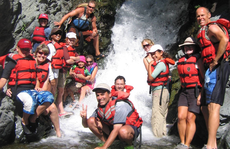 Raft group at Morrison's Rogue River Lodge.