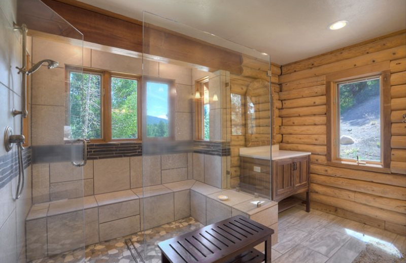 Rental bathroom at Hill Country Lake House.