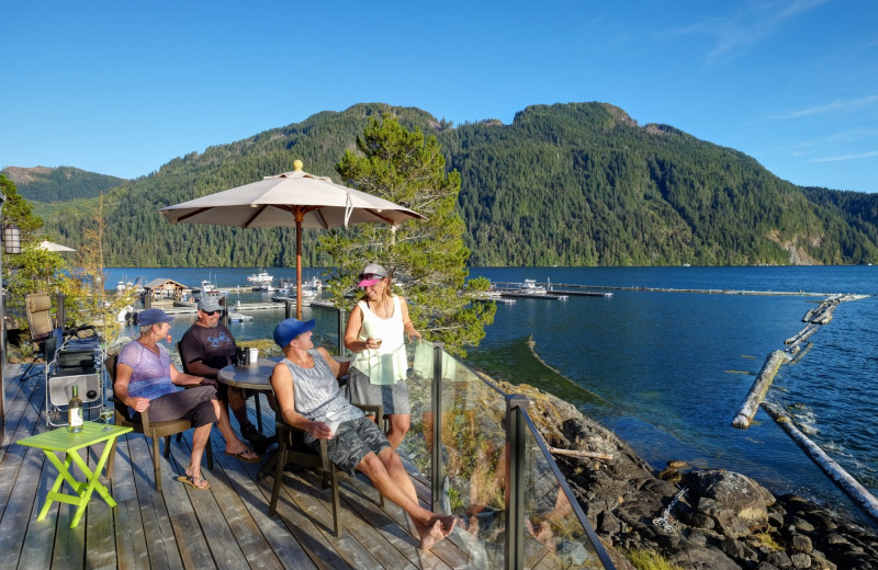 Patio at Nootka Marine Adventures.