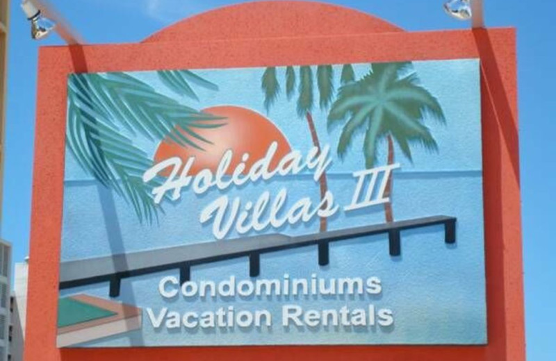 Sign at Holiday Villas III.