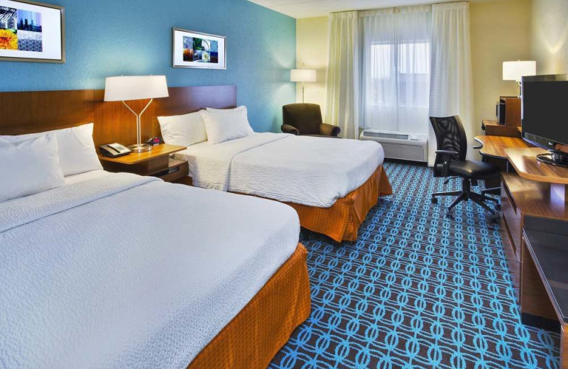 Guest room at The Fairfield Inn by Marriott Owensboro.