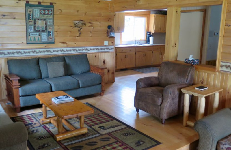 Guest lounge at Sleeping Bear Resort.
