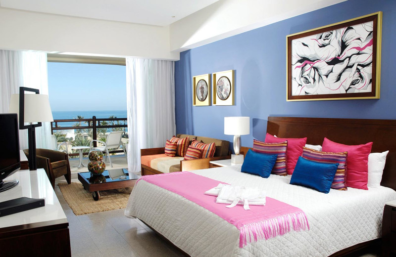 Guest room at The Grand Mayan Los Cabos Wyndham Resort.