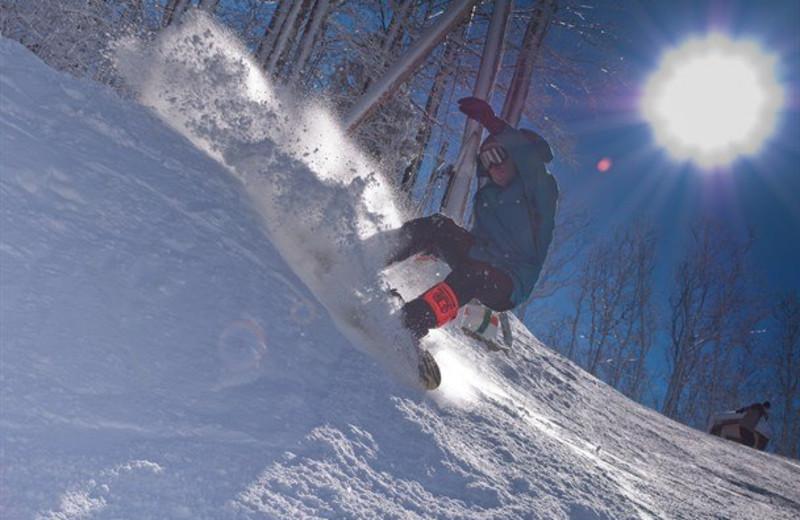 Skiing near Mountain Shadows Resort.