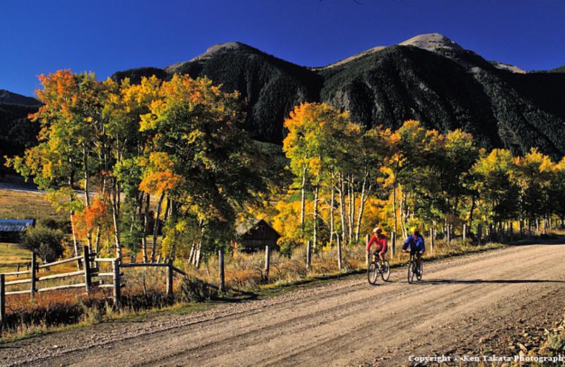 Mountain biking at Bar N Ranch.