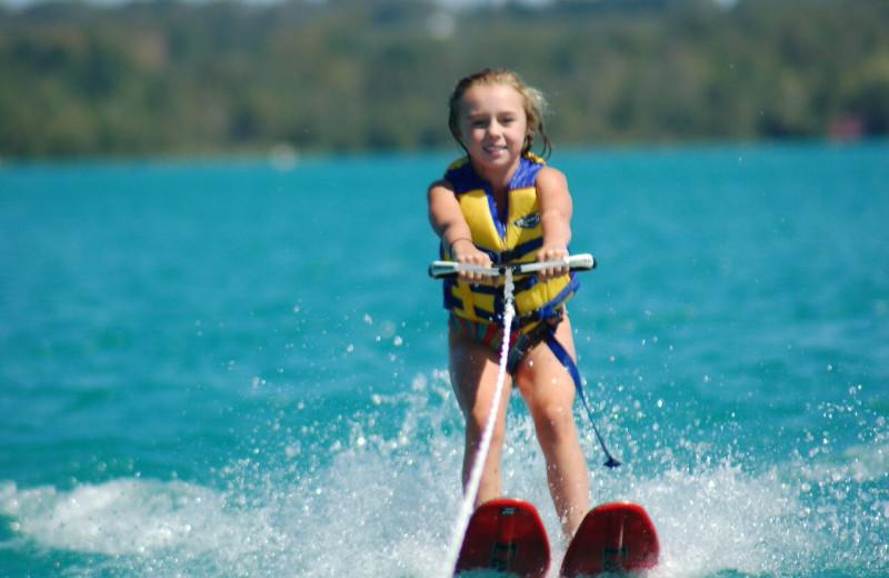 Water ski at White Birch Lodge.