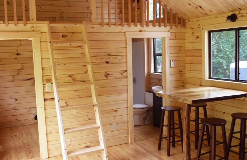 Cabin interior at Yogi Bear's Jellystone Park Hagerstown.