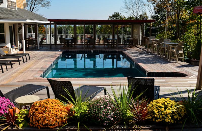 Outdoor pool at 2 Village Square Inn Ogunquit.
