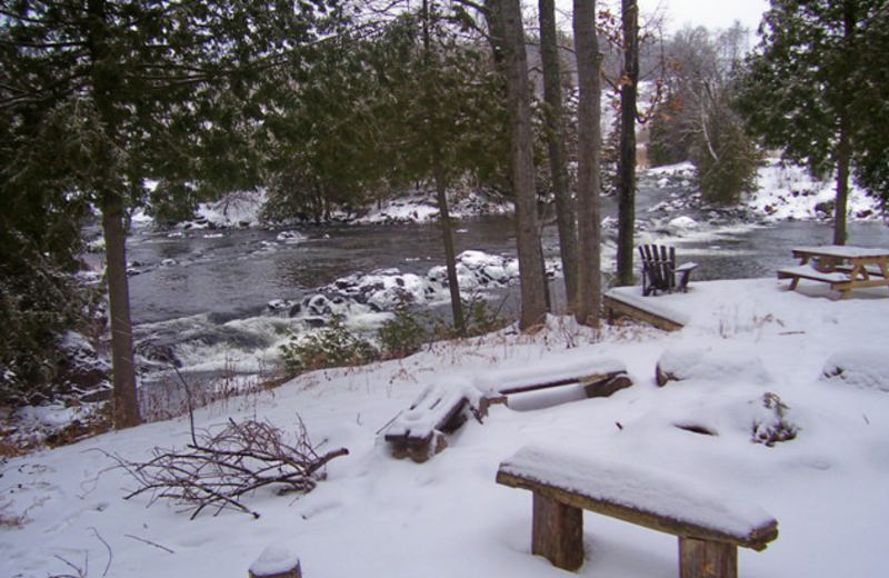 Winter at Myers Cave Resort.