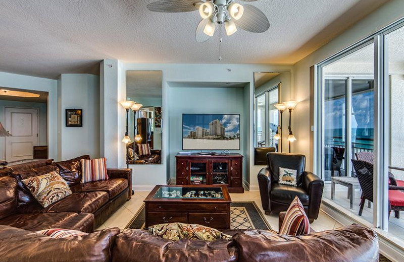 Rental living room at Belloise Realty.
