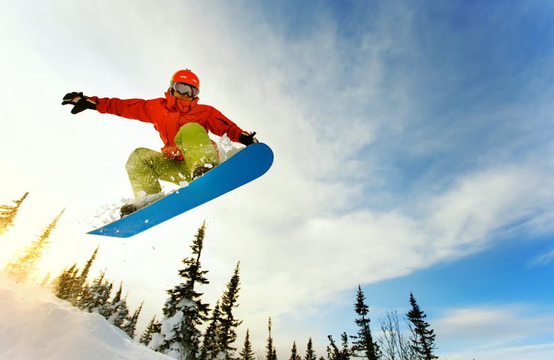 Skiing near Oak Square Condos.