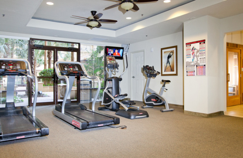 Fitness room at Lake Eve Resort.