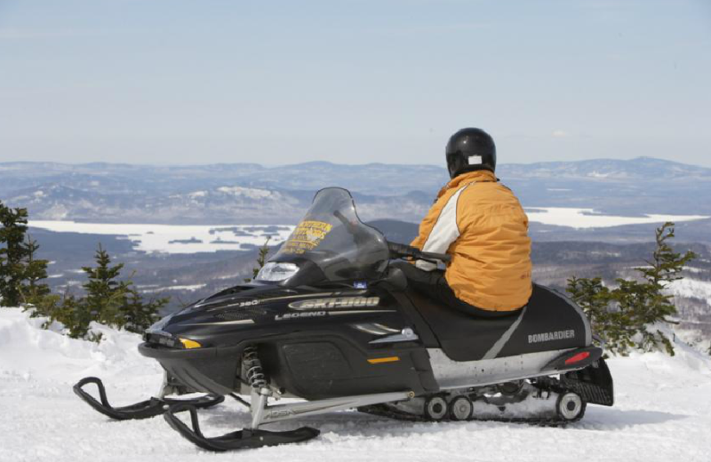 Snowmobiling  at Northern Outdoors.