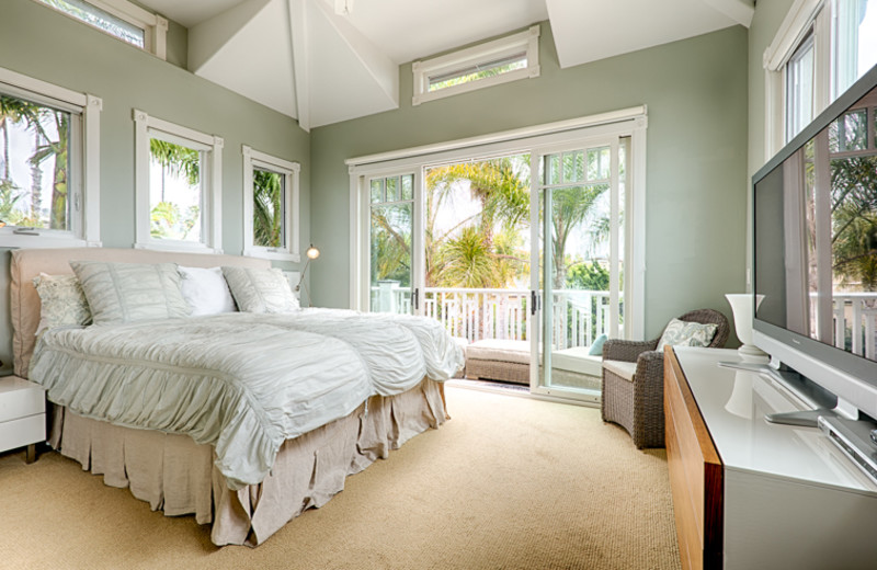 Vacation rental bedroom at Seabreeze Vacation Rentals, LLC.