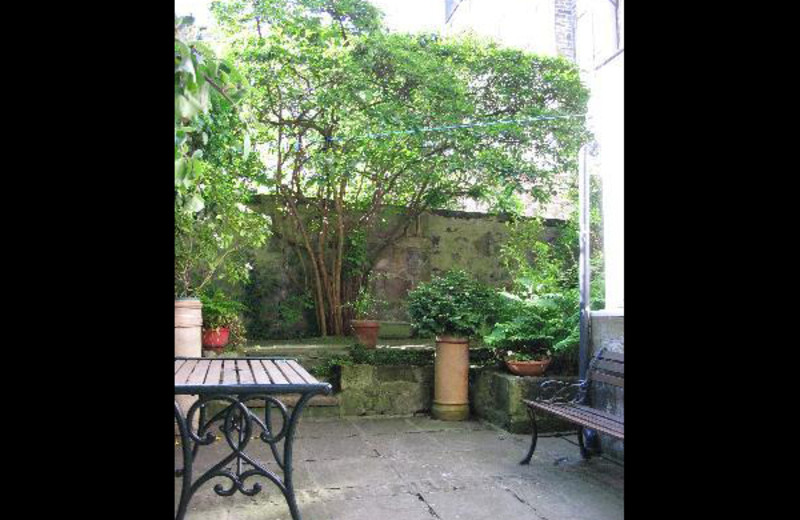Patio at Sibbet House.