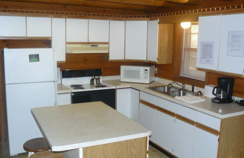Rental kitchen at Sand County Service Company - Little Ponderosa.