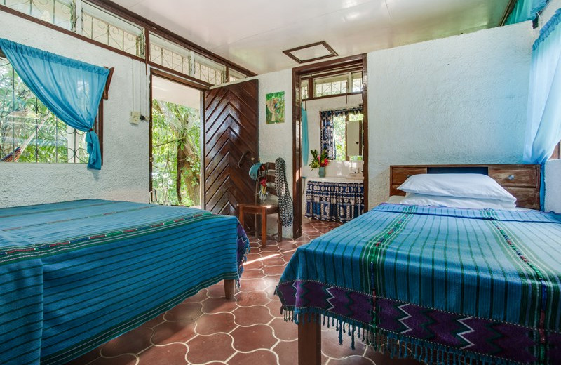 Guest room at Maya Mountain Lodge & Tours.