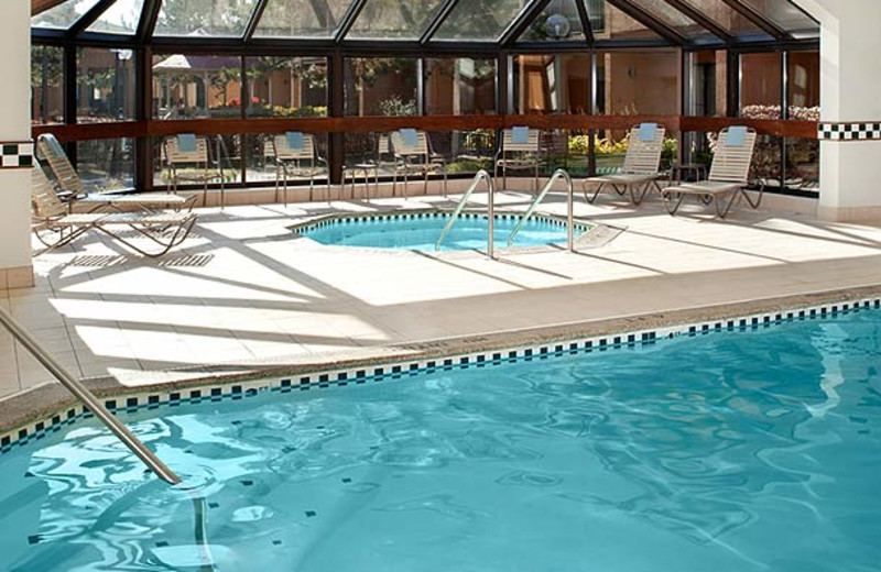 Indoor pool at Courtyard by Marriott Detroit Livonia.