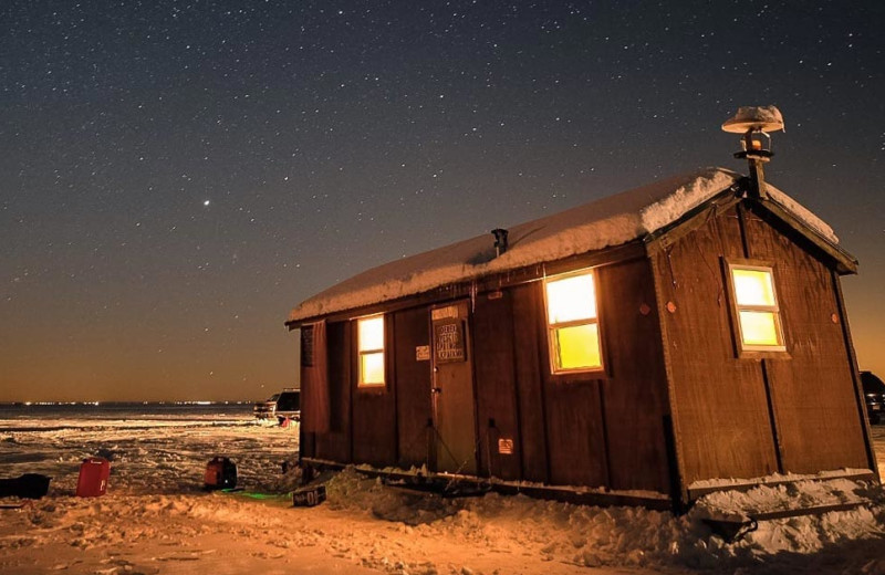 Ice fishing house at The Red Door Resort.