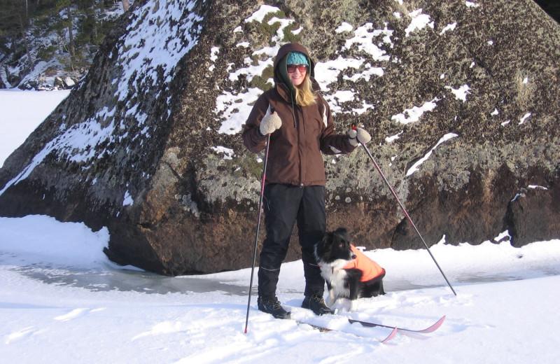 Skiing near Log Cabin Hideaways.
