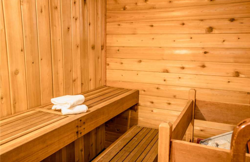 Cabin sauna at Big Powderhorn Lodging Association.