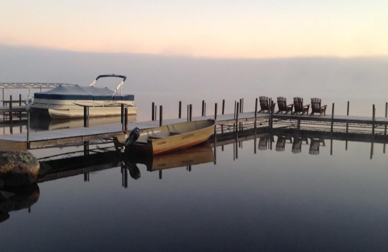 Dock at Glenmore Resort.