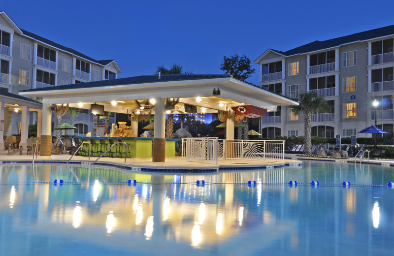 Outdoor pool and bar at Holiday Inn Club Vacations South Beach Resort.