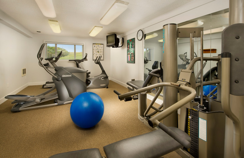 Fitness room at The Tolovana Inn.