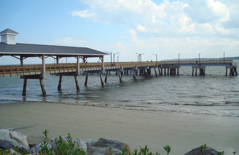 Fishing pier at Ocean Inn & Suites.