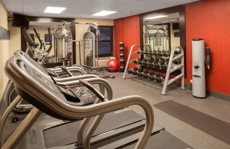 Fitness room at Hampton Inn St. Joseph.