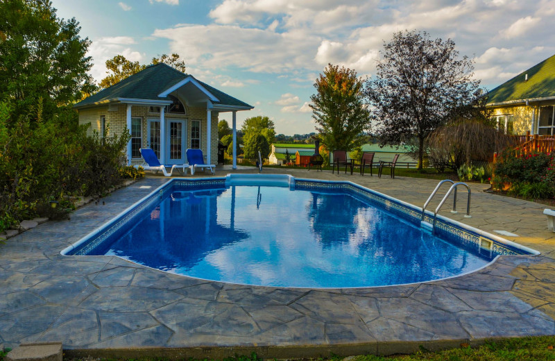 Outdoor pool at Southern Grace Bed & Breakfast.