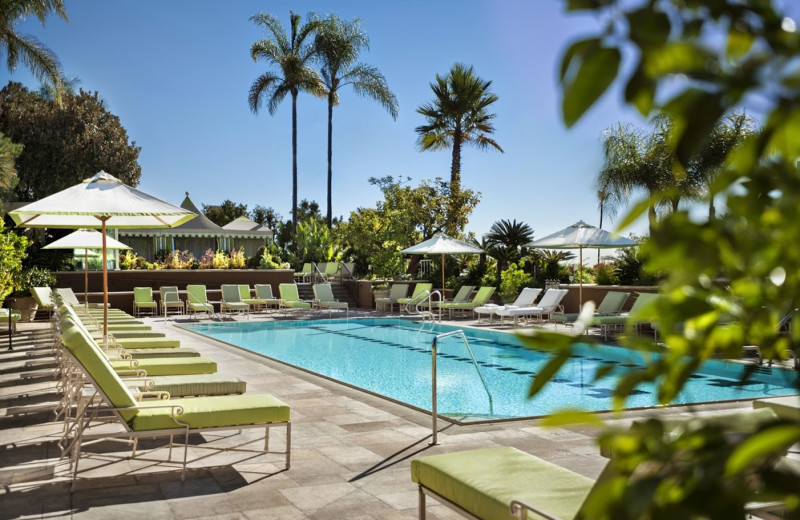 Outdoor pool at Four Seasons Hotel - Los Angeles.