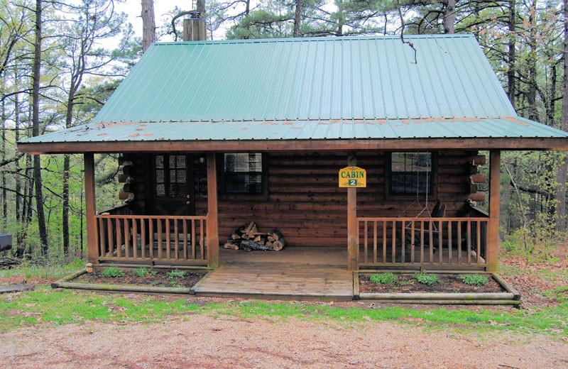 Cabin exterior at Cabin Fever Resort.